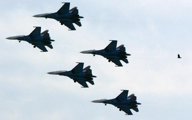 Venemaa Su-27 hävituslennukid.