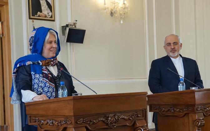 Marina Kaljurand visiidil Iraanis.