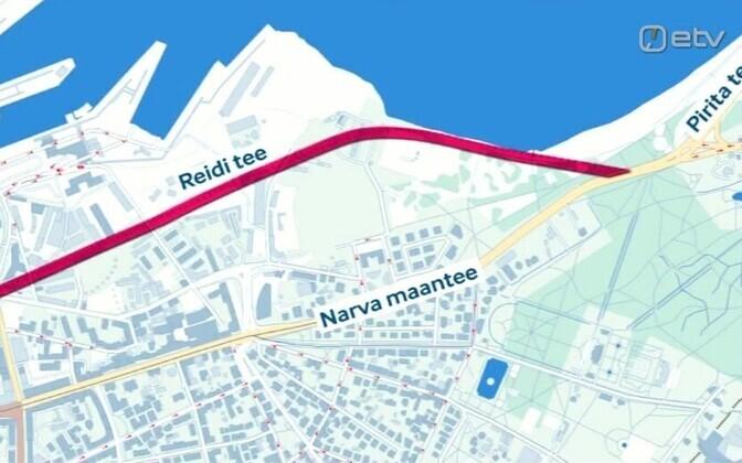 Kavandatav Reidi tee ühendab Pirita tee Ahtri tänavaga.