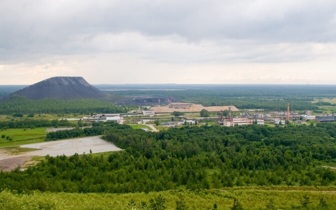 An ash hill in Kiviõli, an industrial town in Ida-Viru County in Northeast Estonia. The ash is a byproduct of oil shale production.