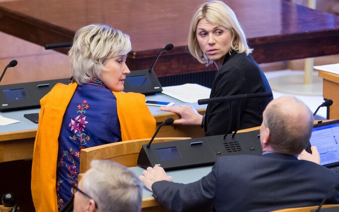 MPs Marianne Mikko and Urve Palo are both from the Social Democratic Party, which voluntarily implemented internal gender quotas. 27 of 101 Riigikogu members are currently women.