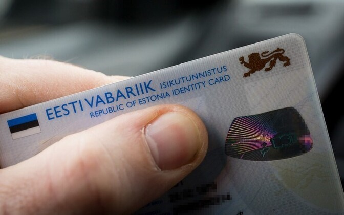 Estonian ID card.