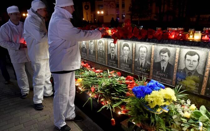 Tšornobõli katastroofi ohvrite mälestamine.