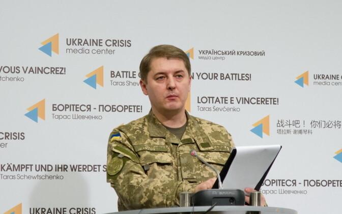 Presidendi administratsiooni terrorismivastase operatsiooni (ATO) kõneisik, polkovnik Oleksandr Motuzjanik.