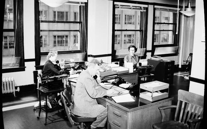Seattle'i töötajad 1954. aastal.