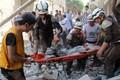 Õhurünnakus opositsiooni käes olevate Aleppo piirkondade vastu.