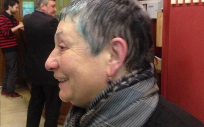 Ljudmila Ulitskaja pärast aktivistide rünnakut.
