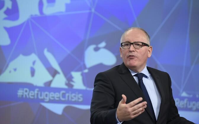 Euroopa Komisjoni esimene asepresident Frans Timmermans.