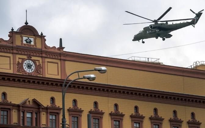 Helikopter FSB peahoone kohal Moskvas.