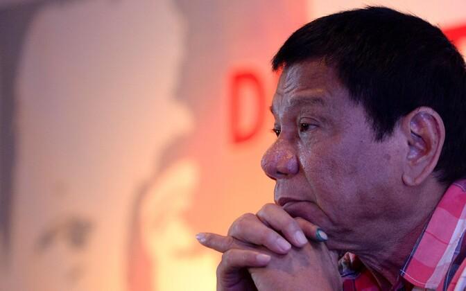 Filipiinide presidendiks valitud Rodrigo Duterte.