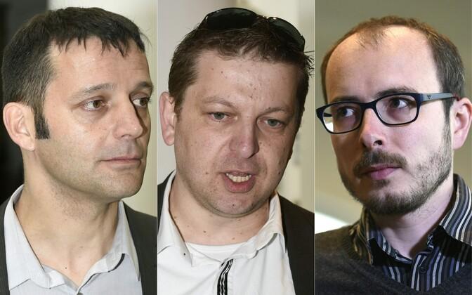 (Vasakult): Perrin, Halet ja Deltour.