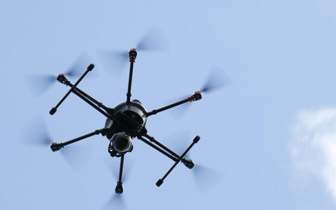 Оборудованный видеокамерой беспилотник. Иллюстративное фото.
