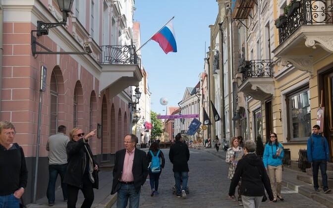 Venemaa suursaatkond Tallinnas Pikal tänaval.