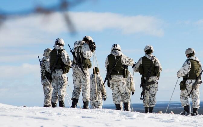 Soome sõdurid talvisel õppusel.