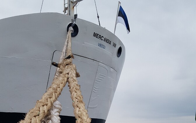 The Mercandia VIII has previously served as a backup vessel on TS Laevad's island routes.