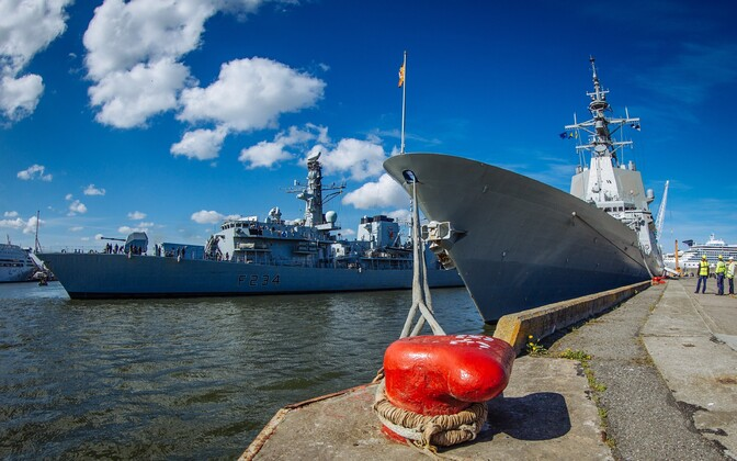 Standing NATO Maritime Group One, which currently consists of the Spanish Navy's ESPS Álvaro de Bazán (F101) and the Royal Navy's Type 23 frigate HMS Iron Duke (F234), will be in Tallinn through Sunday. May 12, 2016.
