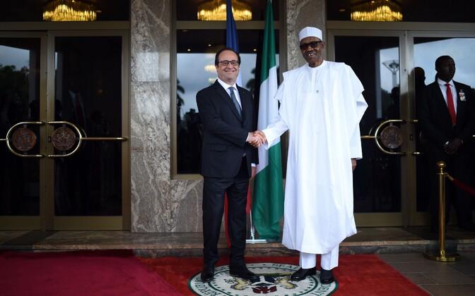 Prantsuse president Francois Hollande ja Nigeeria president Muhammadu Buhari.