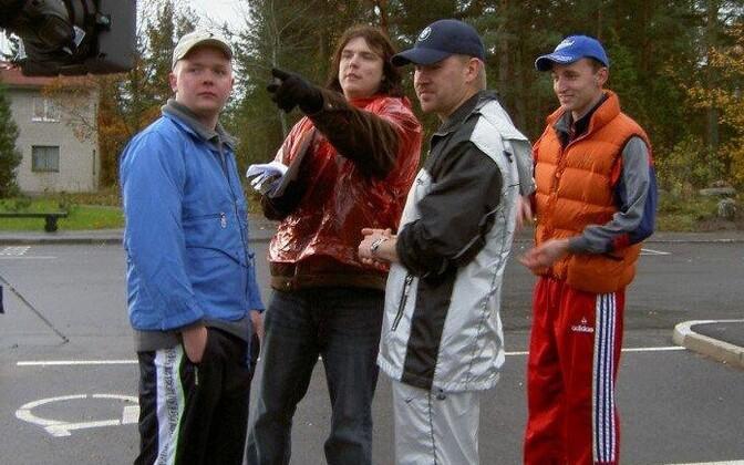Režissöör Rasmus Merivoo ja näitlejad Ott Sepp, Märt Avandi, Indrek Ojari