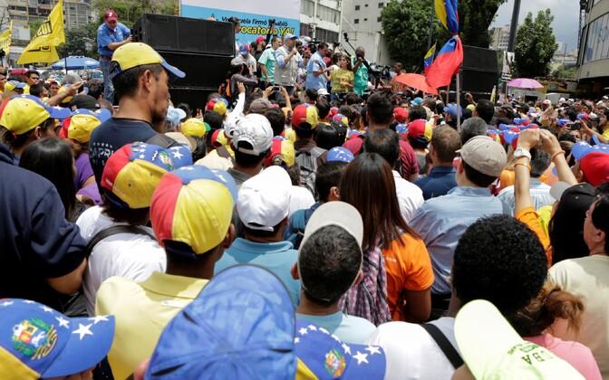 Meeleavaldus president Nicolas Maduro vastu.