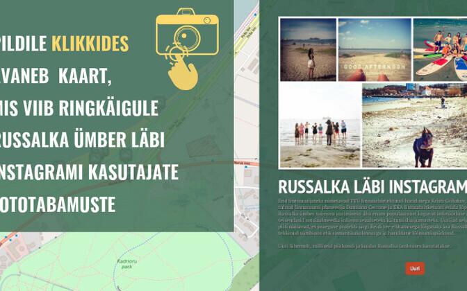 Uuringu esialgsete tulemuste põhjal vaatas ERR.ee ka ise #Russalka märgisega Instagramipilte ja koostas interaktiivse kaardi.