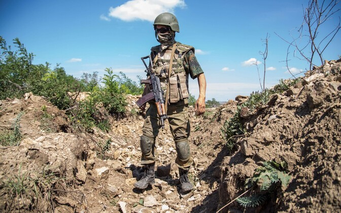 Ukraina sõdur Luganski oblastis.