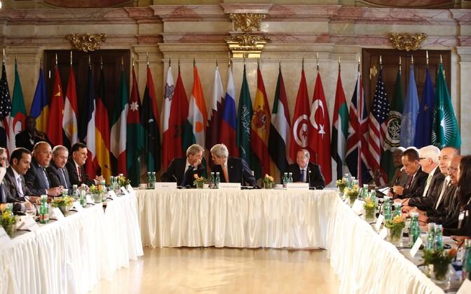 Liibüa olukorra üle arutati täna kohtumisel Viinis.