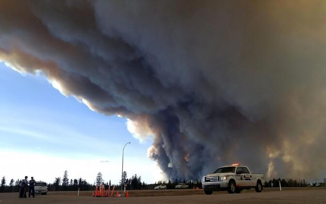 Metsapõleng Alberta provintsis Fort McMurray lähistel.