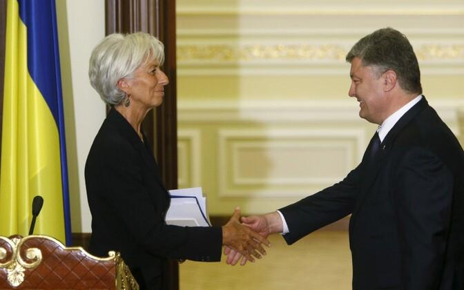 IMF-i juht Christine Lagarde ja Ukraina president Petro Porošenko.