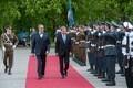 Tervitustseremoonia Soome presidendi riigivisiidi puhul.