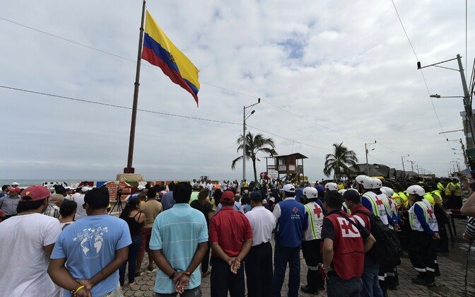 Tseremoonia 16. aprilli maaävirna ohvrite mälestuseks.