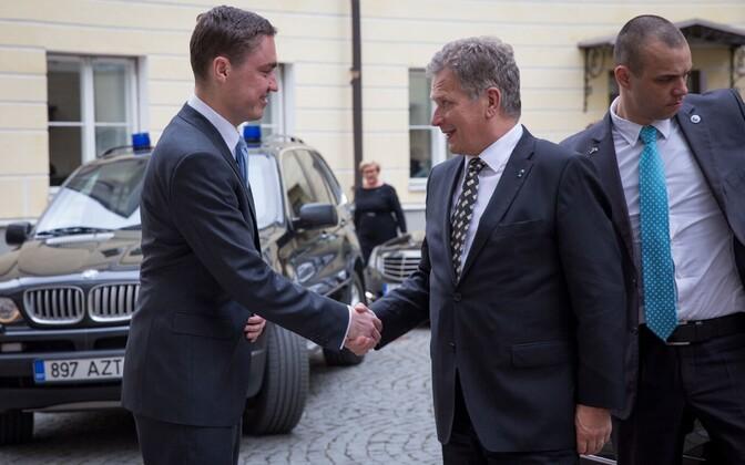 Prime Minister Taavi Rõivas meeting President Sauli Niinistö, Stenbock House, May 18, 2016