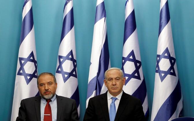 Avigdor Lieberman ja Benjamin Netanyahu.