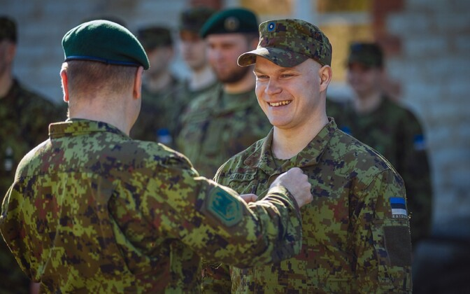 The exercise is over: At the final lineup of the Headquarters Support and Signal Battalion, Võru