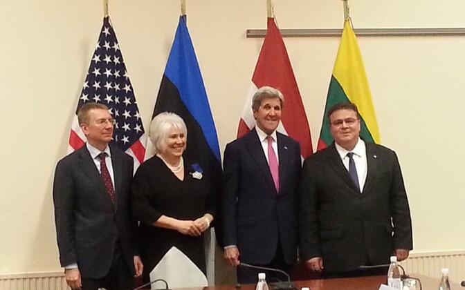 Balti riikide välisministrid koos John Kerryga.