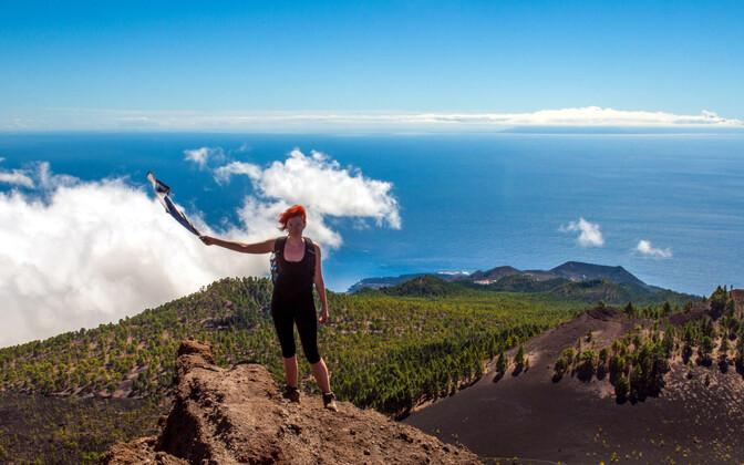TÜ vilistlane Kristiina Verro Hispaanias La Palma saarel, kus asub Euroopa suurim observatoorium.