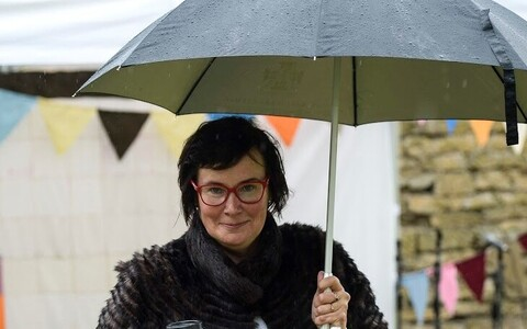 Катри Райк на фестивале мнений в Нарве.