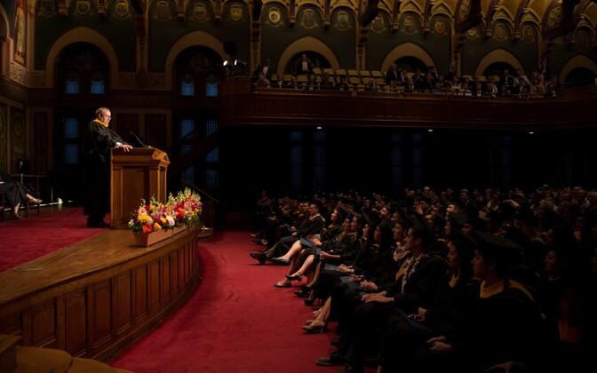 President Toomas Hendrik Ilves Georgetowni ülikoolis.