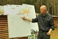 Tartu ülikooli geoloogia-mineraloogia professor Kalle Kirsimäe tutvustab Eesti geoloogilist kaarti.
