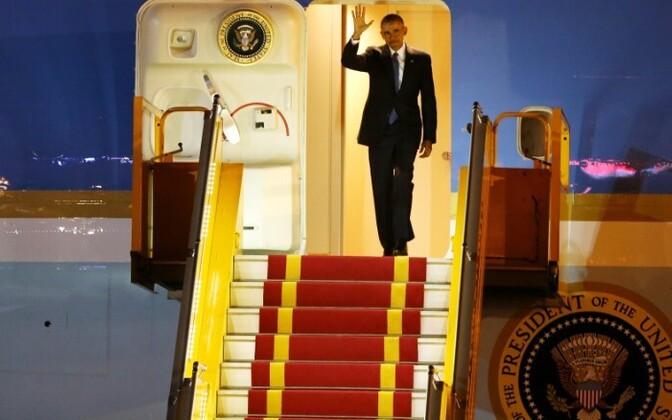 USA president Barack Obama saabumine Hanoisse, Vietnami 22. mail