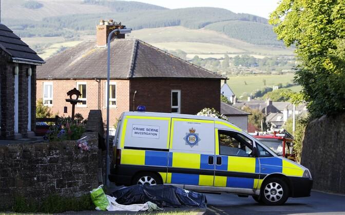 Politseiauto Cumbria krahvkonnas. Illustreeriv foto.