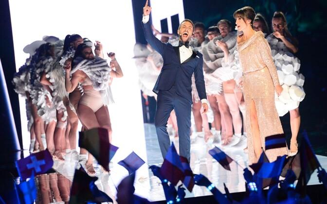 Eurovisiooni tänavused saatejuhid Petra Mede ja Mans Zelmerlow