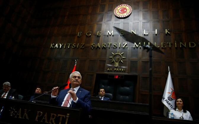 Türgi uus peaminister Binali Yildirim 24. mail parlamendis.