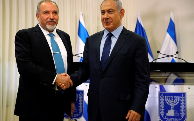 Avigdor Lieberman (vasakul) ja Benjamin Netanyahu.