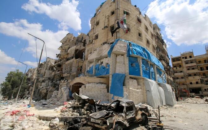 Õhurünnaku alla jäänud Aleppo haigla, mida haldas organisatsioon Piirideta Arstid (Medecins Sans Frontieres (MSF)).