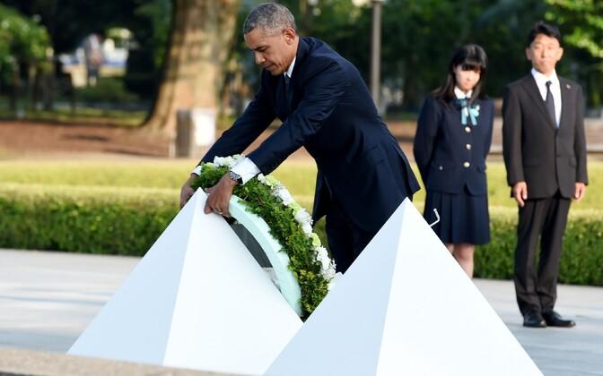 Barack Obama saabus ajaloolisele visiidile Hiroshimasse.