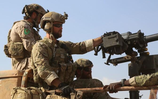 USA sõdurid ja kurdidest liitlased mais Raqqa provintsis.