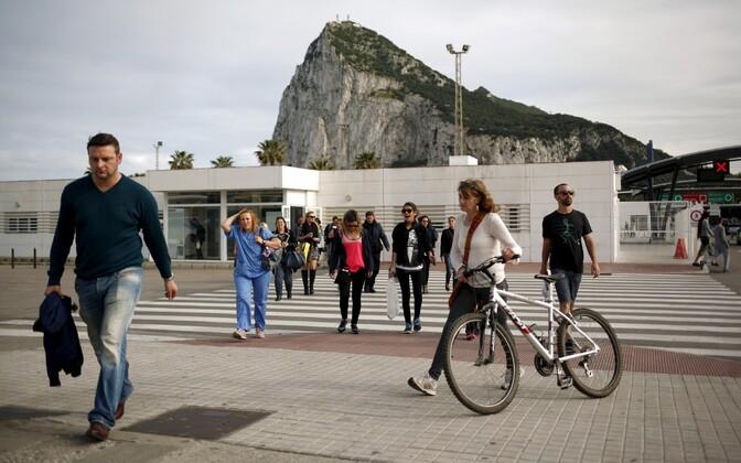 Gibraltari ja Hispaania piiripunkt.