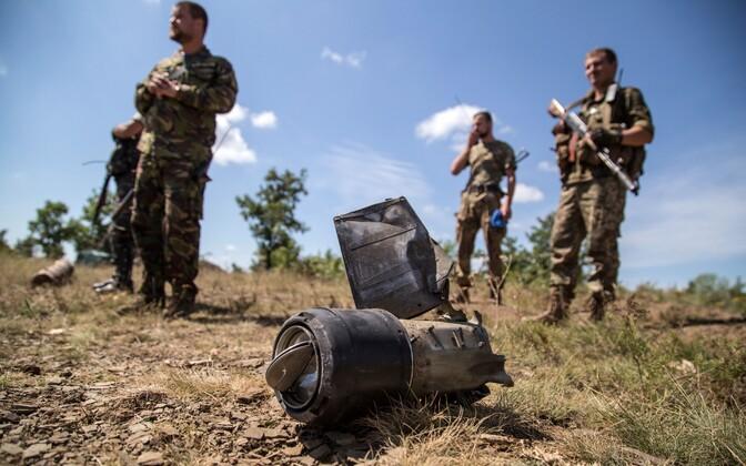Ukraina sõdurid Donetski oblastis.