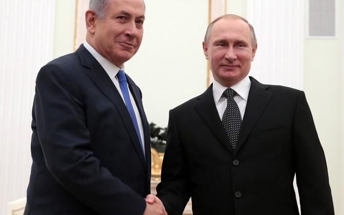 Netanyahu ja Putin 21. aprillil Moskvas.