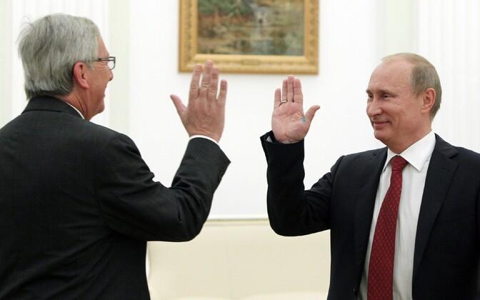 Jean-Claude Juncker Luksemburgi peaministrina 2012. aastal Putiniga kohtumas.